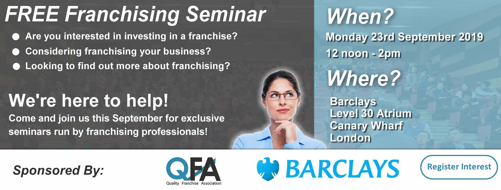 QFA Franchising Seminar Banner