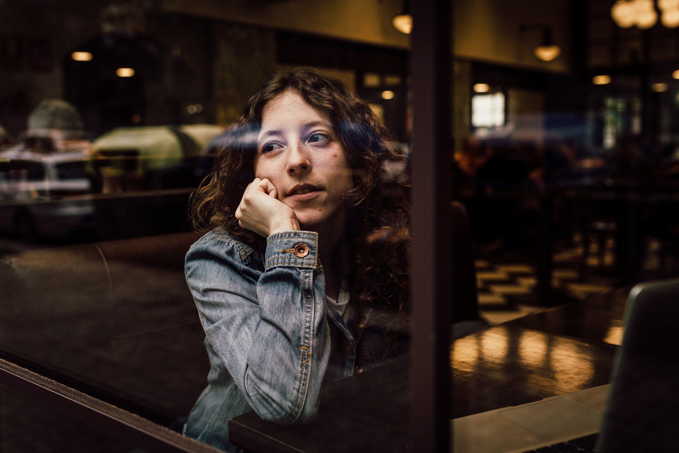 Woman Thinking Window